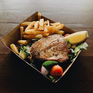 Salt Village Fish and Chips-Yellowfin tuna