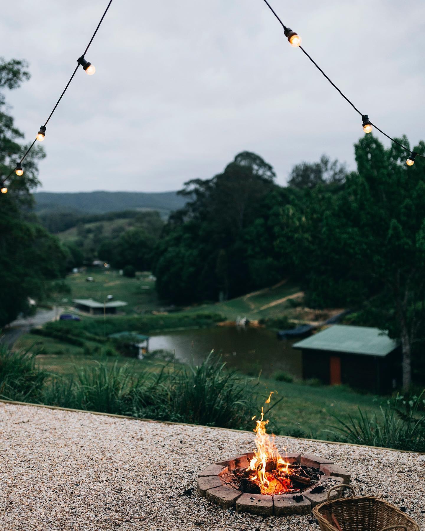 Hosanna farmstay campfire in tweed