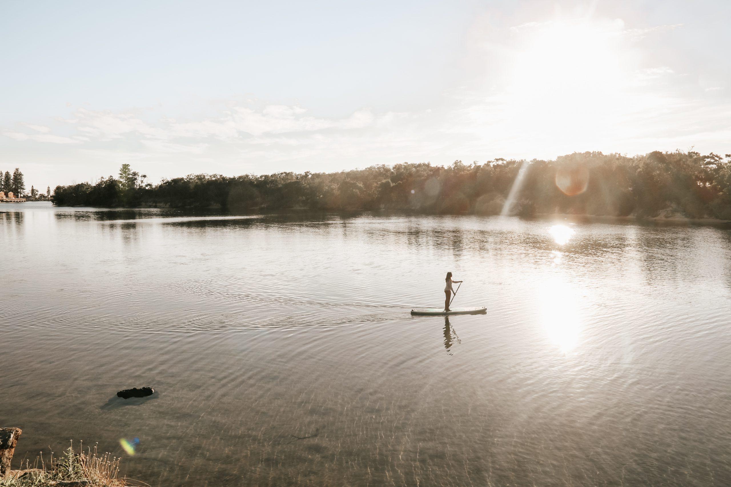 SUP on Cudgen creek using NSW Discover Vouchers